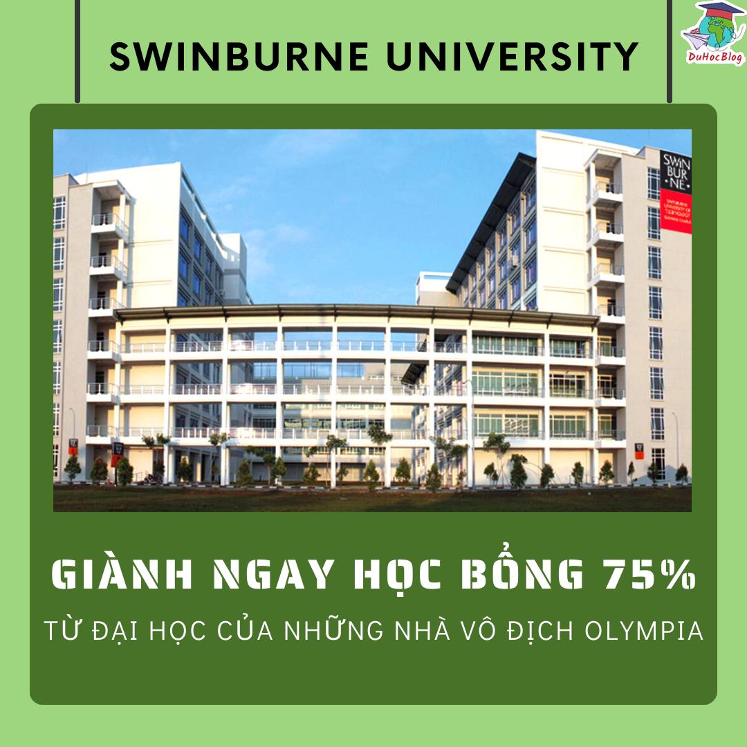học bổng 75% swinburne university