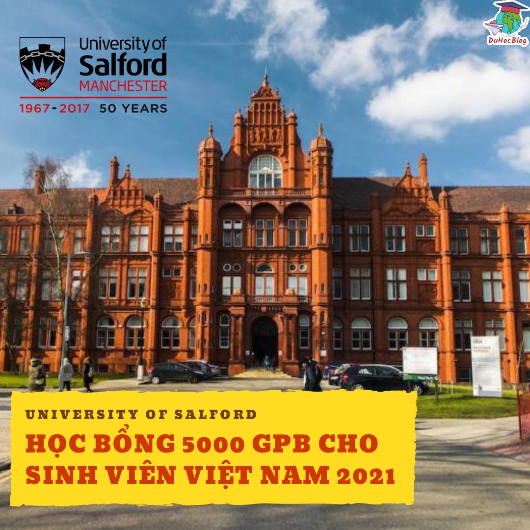 salford university hoc bổng cho sinh viên việt nam 2021